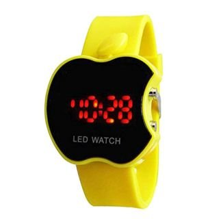LAXMI AND SUNS Laxmi And Suns Apple Shape Kids Led Watch,Yellow