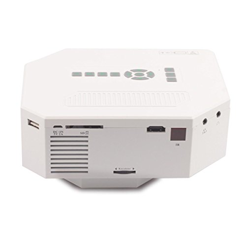 Elsse 30w portable mini lcd high definition projector with for High resolution mini projector