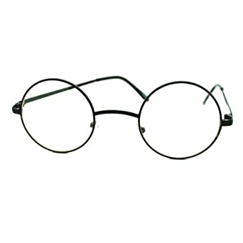 Black Frame Circle Glasses : Amazon.com: Black Round Circle Clear Lens Eyeglasses Small ...