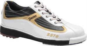 Dexter Men's SST 8 Bowling Shoes, White/Black/Gold, 10.5