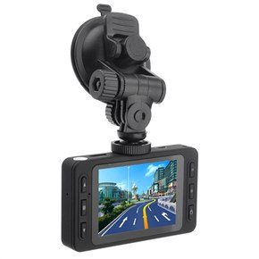 D6 2.7-Inch Tft-Lcd Full Hd 1080P Car Dvr With Emergency Save /Hdmi /Av-Out /Night Vision /Mic /Tf Slot (Black)