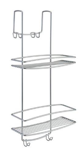 Mensola supporto box doccia metaltex 2 piani ganci colore for Camminare attraverso i piani doccia