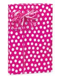 Hot Pink & White Polka Dot Gift Wrapping Paper