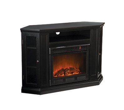 Claremont Convertible Black Electric Fireplace Media Console image B006ARWWPI.jpg