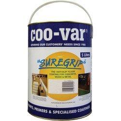 Coo-Var 'Suregrip' Non Slip Floor Paint - 8 Colours Available - 5 Litre