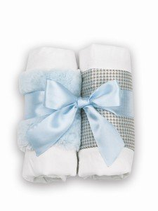 Baby's Blue Burp Cloth Set - S/2 - 1
