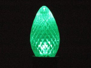 Green C7 Led Retrofit Christmas Bulb Replacement