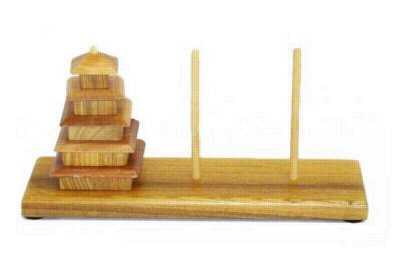 Picture of Square Root Games Pagoda Challenge, Wood Puzzle (B0047E3D6S) (Pegged Puzzles)