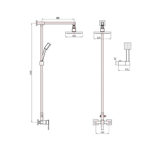 Lightinthebox 174 Single Handle Wall Mount Rain Shower Faucet