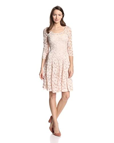 Chetta B Women's Lace Fit-and-Flare Dress  [Champagne]