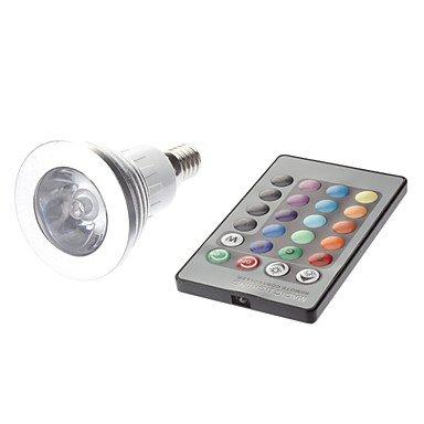 E14 3W Rgb Light Remote Controlled Led Spot Bulb (85-265V)