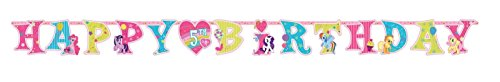 Amscan AMI 125513 My Little Pony Jumbo Add-An-Age Letter Banner, AMI 125513 1, Multicolored