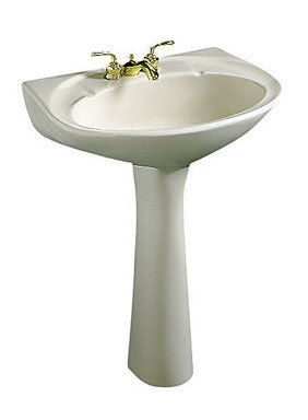 Best Review Of Crane Plumbing 199V Metro 24-by-19-Inch Vitreous China Pedestal Lavatory, White