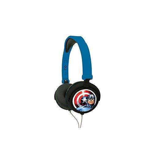 Avengers - Cascos estéreo, color azul (Lexibook HP010AV)