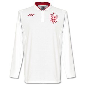 12-13 England Home L/S Jersey-50
