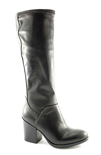 CAFè NOIR FD103 nero stivali donna pelle gambale elasticizzato