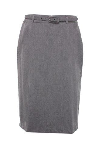Jm Collection Women'S Belted Magic Skirt (10, Charcoal) front-1033388