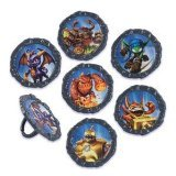 Best Deals! 12 Skylanders Cupcake Plastic Rings Party Favors