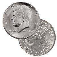 1964 Kennedy Half Dollar Bu