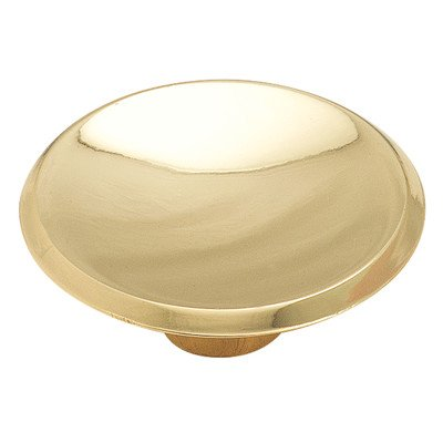 "Amerock Cabinet Knob 1-3/4"" Dia. X 3/4"" Out Allison Polished Brass - 1"