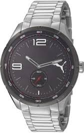 Puma Speed metal Silver Black Quartz Watch PU103111002