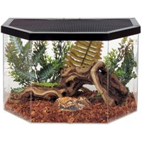 Flat Back Hex Acrylic Reptile Habitat with Metal Screen Top - 5 Gallon