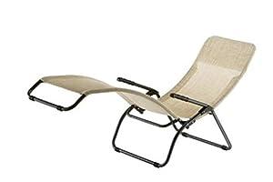 fauteuil chaise longue transat a bascule dolcevita d350 ecru jardin. Black Bedroom Furniture Sets. Home Design Ideas