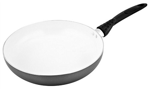 CS-KOCHSYSTEME NEUSS 11- Inch Ceramic Nonstick Fry Pan, Grey and White