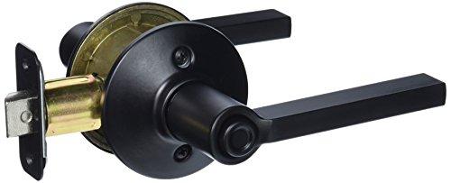 Schlage F40 V LAT 622 Latitude Privacy Lock Lever, Matte Black (Matte Black Door Knob compare prices)
