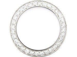 Ladies 2ct Bead Set Diamond Bezel 14kw for Rolex