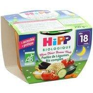 Hipp - Poêlée de légumes riz complet Bio dès 18 mois, 250g lot de 3