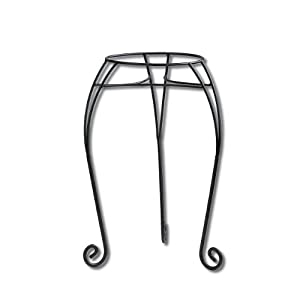 Misco PS95715 Classic Plant Stand, 15-Inch, Black
