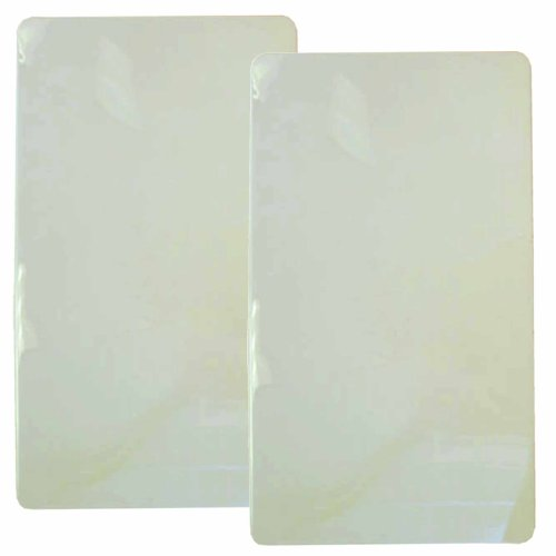 Reston Lloyd Rectangular Stove Burner Covers, Set Of 2, White