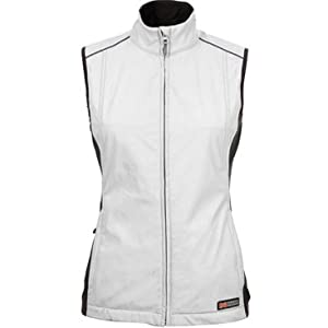 Mobile Warming Jackii Ladies Sports Bike Motorcycle Vest - Silver by Mobile Warming