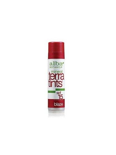 Alba Botanica Blaze Terratints Spf 15 Lip Balm, 0.15 Ounce Tubes
