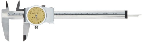 Brown & Sharpe 599-579-14 Dial Caliper, Stainless Steel, Yellow Face, 0-150mm Range, +/-0.02mm Accuracy, 2mm Resolution, Meets DIN 862 Specifications (Brown And Sharpe Vernier Caliper compare prices)