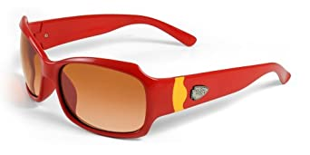 NFL Kansas City Chiefs Bombshell Sunglasses with Bag, Red Yellow by Maxx
