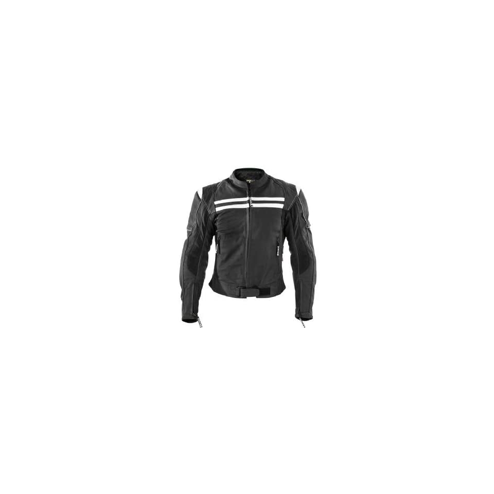 Vulcan VNE 98435 Armored Mens Racing Leather Motorcycle Jacket Sz 2XL