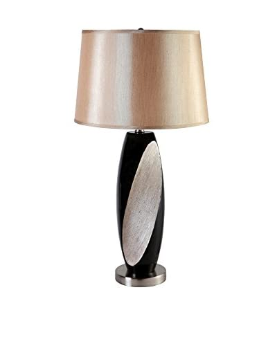 ORE International 29 Retro Ceramic 1-Light Table Lamp, Black