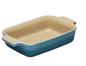 Le Creuset Stoneware Shallow Rectangular Dish, 18 cm - Teal