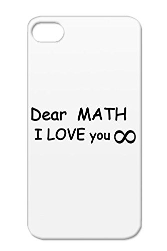 Dustproof Tpu Variables Formulas School Abstract Careers Professions Characters Mathematic Sexy Lessons Nerd Calculation Geek Math Students Expressions Of Love Pi Infinity Heart Physic Black Dear Math I You Case For Iphone 4S front-553806