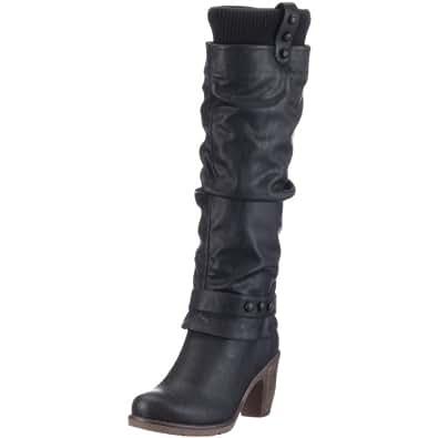 Rieker 91051, Damen Stiefel, Schwarz (schwarz/schwarz 00), EU 40