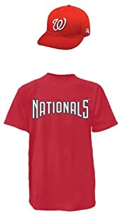 Washinton Nationals Youth Large Jsy Cap Combo Ts by Authentic Sports