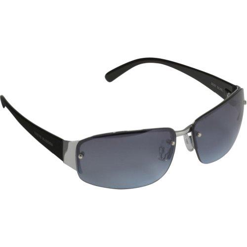f1870283c7b87 Steve Madden Men s S097 SLVBL Semi-Rimless Sunglasses