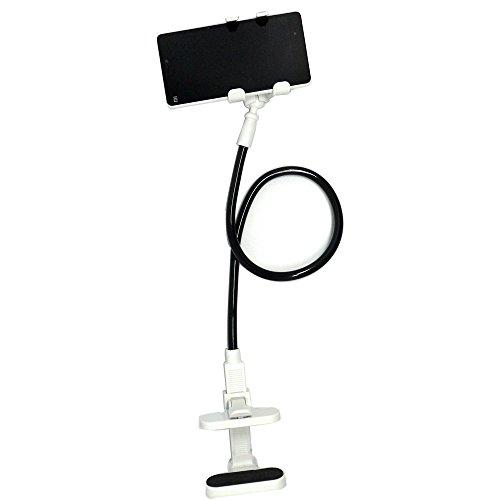 スマートフォンホルダー クリップ式 フレキシブルアーム ホルダー (黒色)