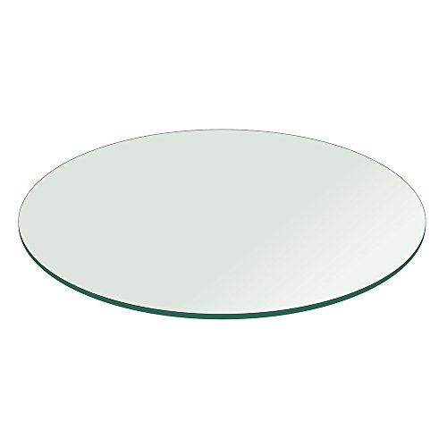 Glass Table Top: 38 inch Round 1/4 inch Thick Flat Polish Tempered (38 Glass Tabletop compare prices)