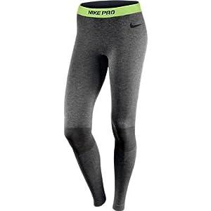 Nike Pro Hyperwarm Women's Seamless Running Tights Large Grey