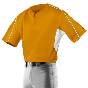 e2c3e5956 Alleson 526MJ Adult Two Button Custom Baseball Jerseys OR WH - ORANGE WHITE  A3XL