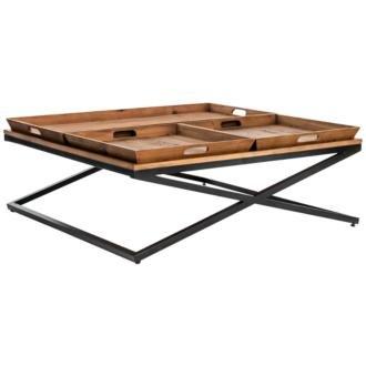 Jax Square Antique Bleach X-Base Coffee Table