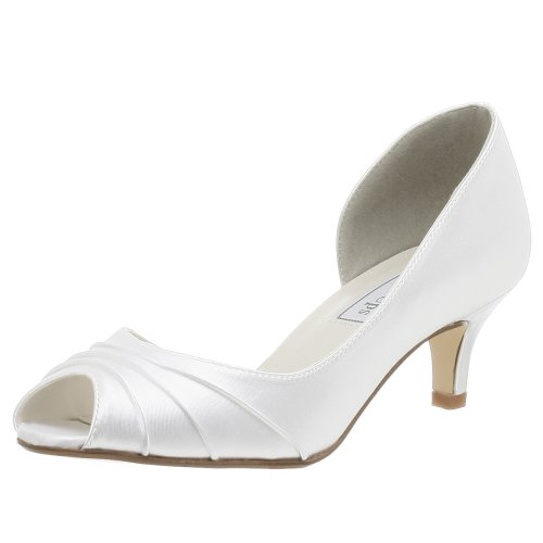 Touch Ups Women's Abby Pump,White,8.5 M